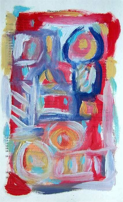 Abstract Art Art Print featuring the painting Abstract On Paper No. 31 by Michael Henderson