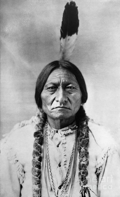 19th Century Art Print featuring the photograph Sitting Bull 1834-1890. To License For Professional Use Visit Granger.com by Granger