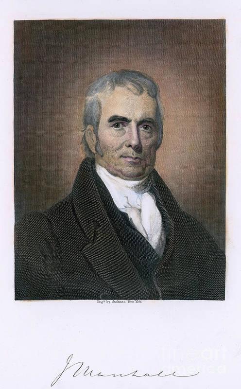 18th Century Art Print featuring the photograph John Marshall (1755-1835) by Granger