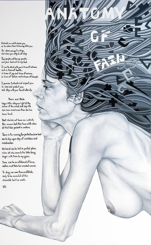 Poetry Art Print featuring the painting Anatomy Of Pain by Judy Henninger