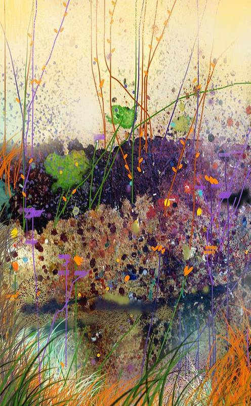 Landscape Art Print featuring the digital art At The Spring by Dale Witherow