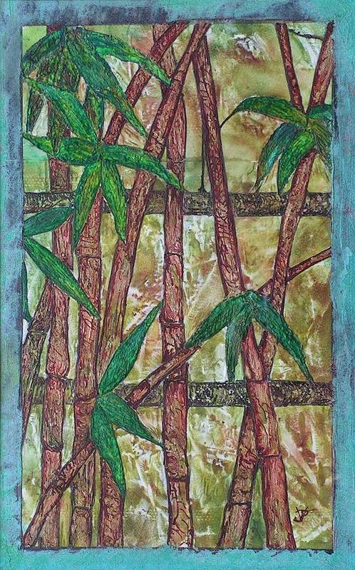 Bamboo Art Print featuring the painting Bamboo by John Vandebrooke