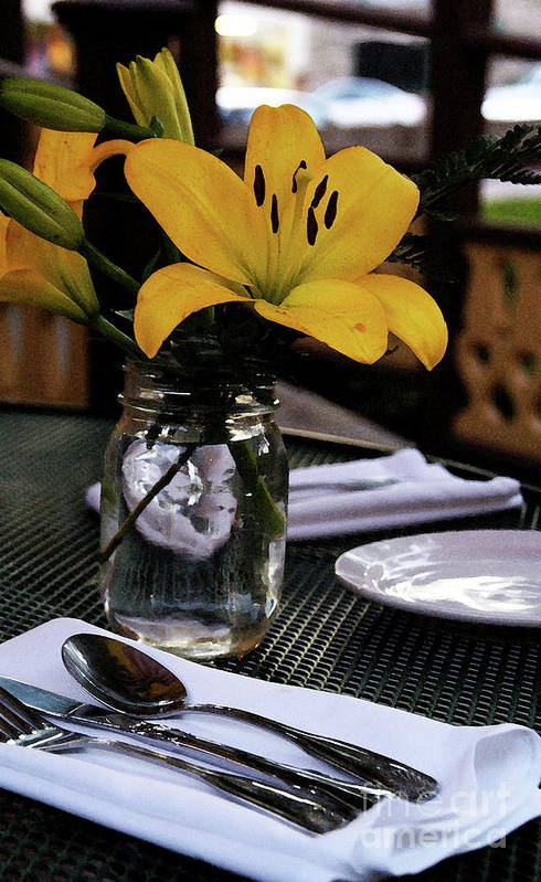 Table-scape Art Print featuring the photograph Casual Affair by Linda Shafer