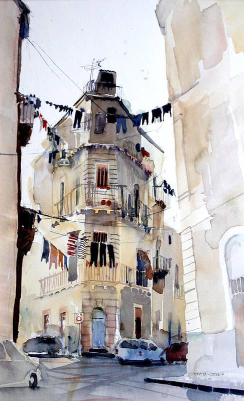 Catania Art Print featuring the painting Civitas by Omar Jaramillo