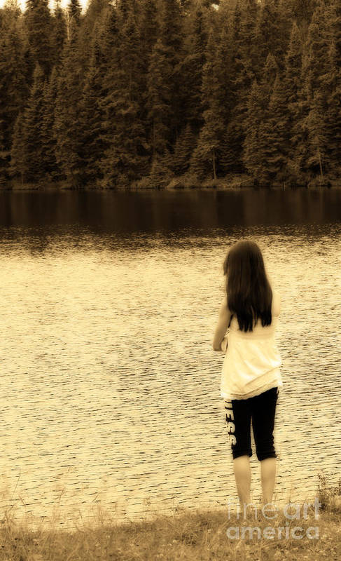 Sepia Art Print featuring the photograph Contemplation by Cathy Beharriell