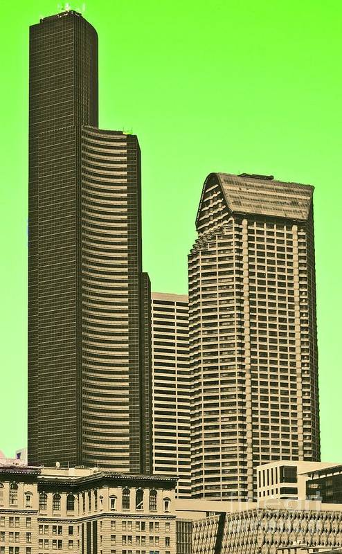 Columbia Art Print featuring the photograph Downtown Hi-rise by Tracy Long