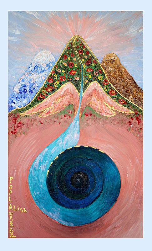 Jacob Dream Art Print featuring the painting Dream by Alisa Poplavskaya