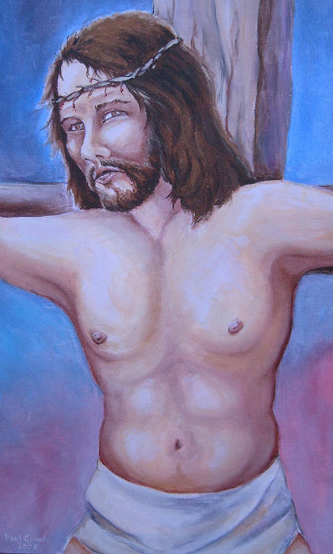 Jesus Art Print featuring the painting Forgive Them Father by Paul Choate