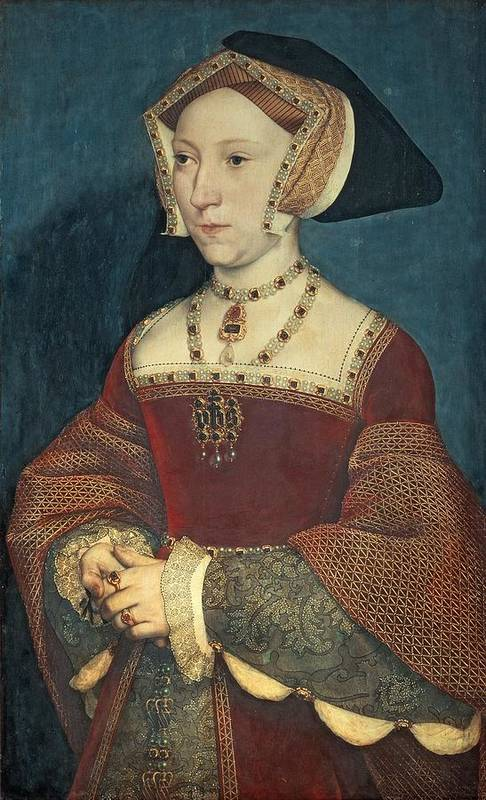 Jane Art Print featuring the painting Jane Seymour by Holbein