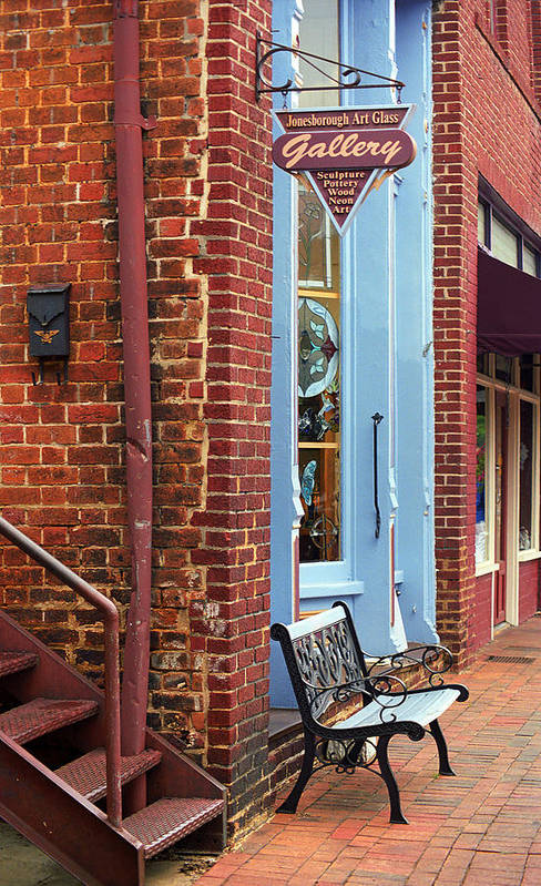 America Art Print featuring the photograph Jonesborough Tennessee Main Street by Frank Romeo