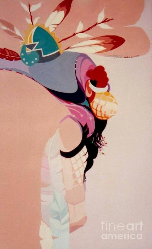Kachina Art Print featuring the painting Kachina 1 by Marlene Burns