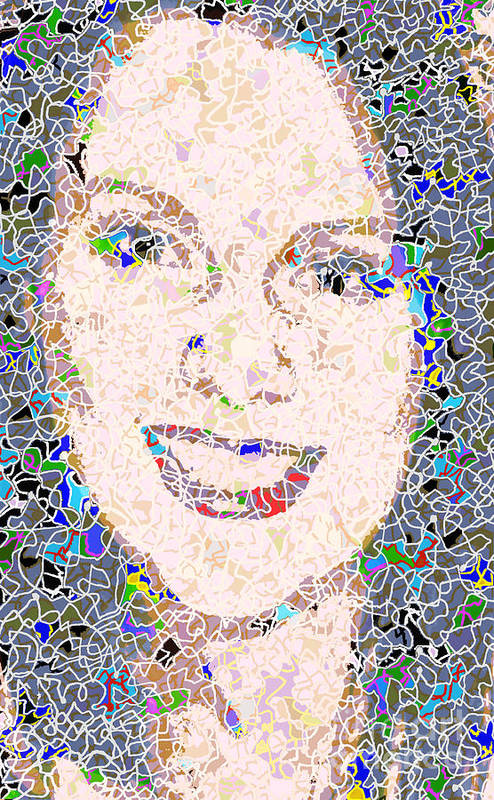 Portrait Art Print featuring the photograph Kath by Andy Mercer