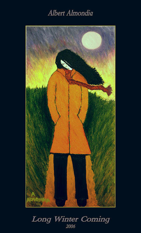Figurative Art Print featuring the painting Long Winter Coming by Albert Almondia