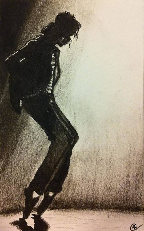 Famous Art Print featuring the drawing Moonwalker by Andrew Nelson