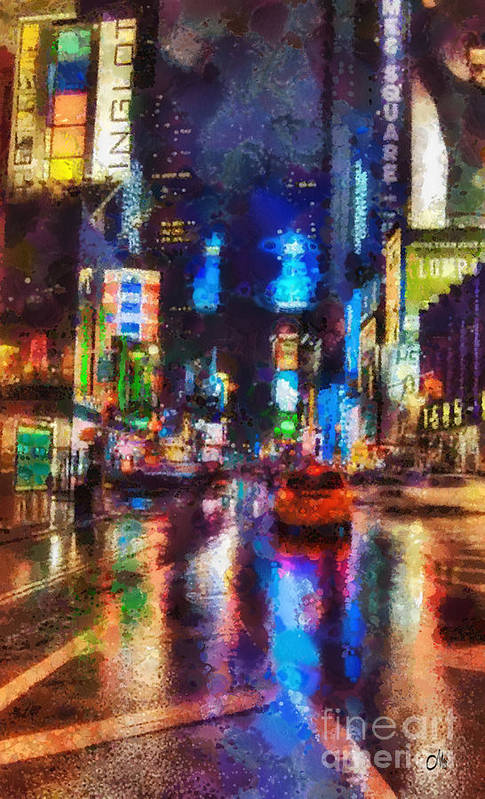 New York Art Print featuring the painting New York by Mo T