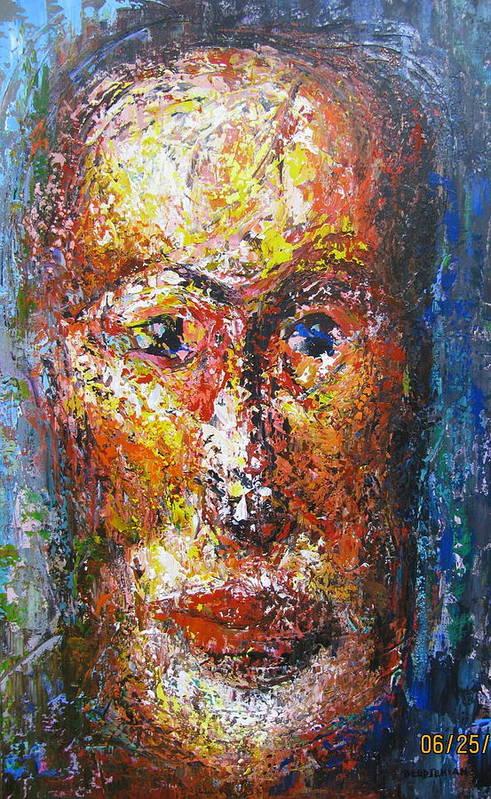 New Interpretation Of A Self Portrait Art Print featuring the painting Portraying Life by Shant Beudjekian