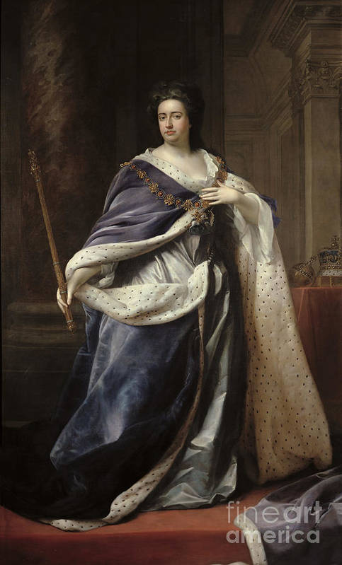 Queen Art Print featuring the painting Queen Anne by Edmund Lilly
