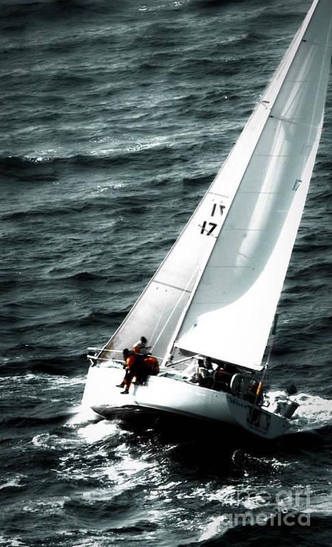 Sailing Art Print featuring the photograph Regatta Sailboat Races by Sandy Buckley