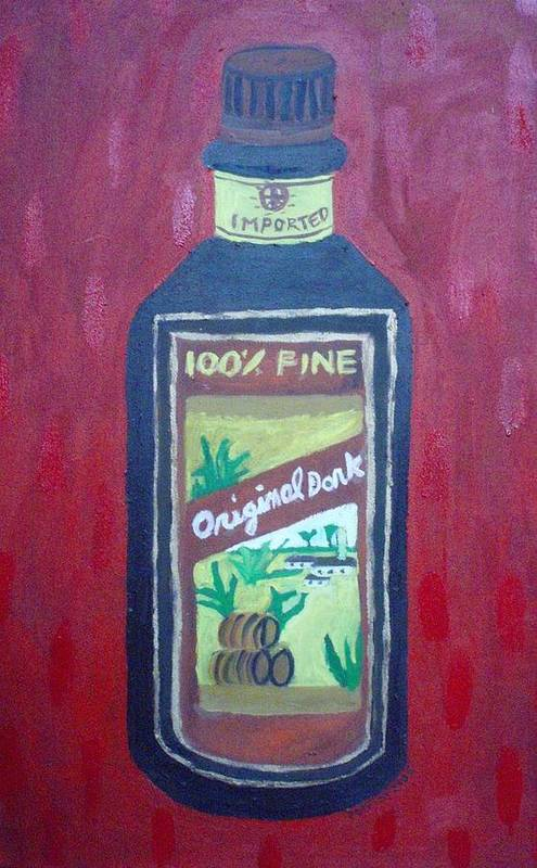 Oil On Canvas Art Print featuring the painting Rum by Patrice Tullai