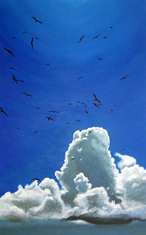 Birds Art Print featuring the painting Sanctuary by Fiona Jack