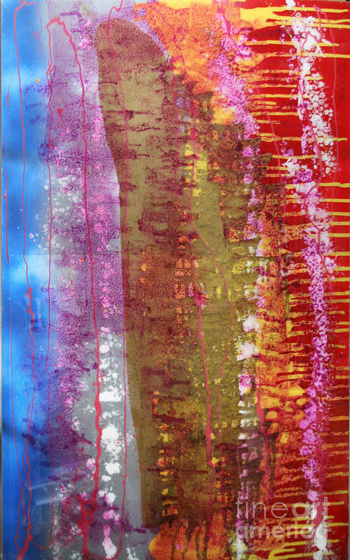 Abstract Art Print featuring the painting Strata by Mordecai Colodner