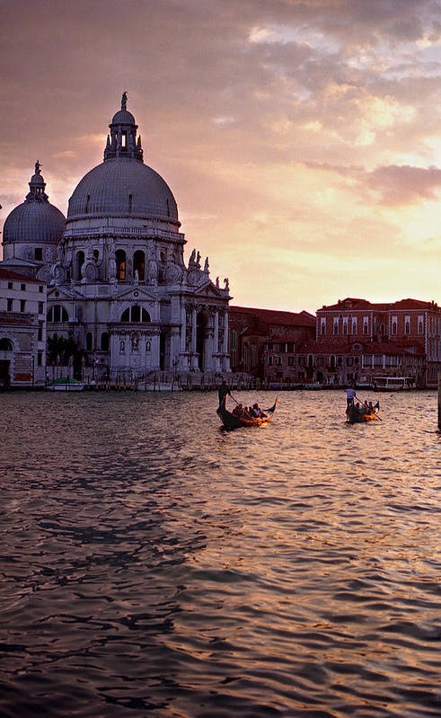 Water Art Print featuring the photograph Sunset Venice Italy by Xavier Cardell