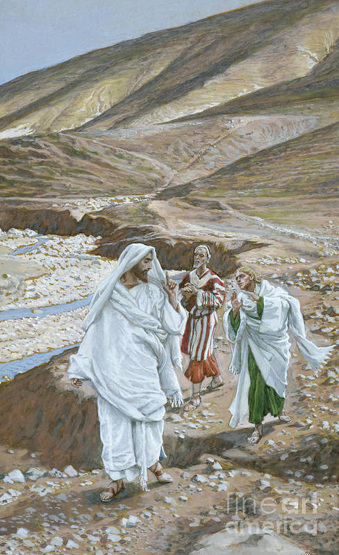 Calling Andrew Art Print featuring the painting The Calling Of St. Andrew And St. John by Tissot