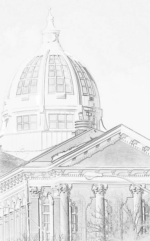Courthouse Art Print featuring the photograph The Courthouse by Kim Blaylock