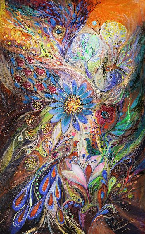 Judaica Art Print featuring the painting The Dance Of Light by Elena Kotliarker