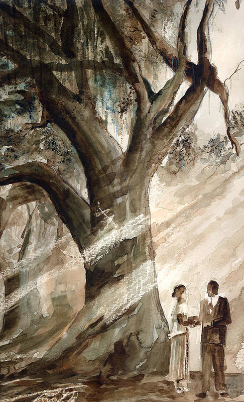 People Art Print featuring the painting The Encounter by Arline Wagner