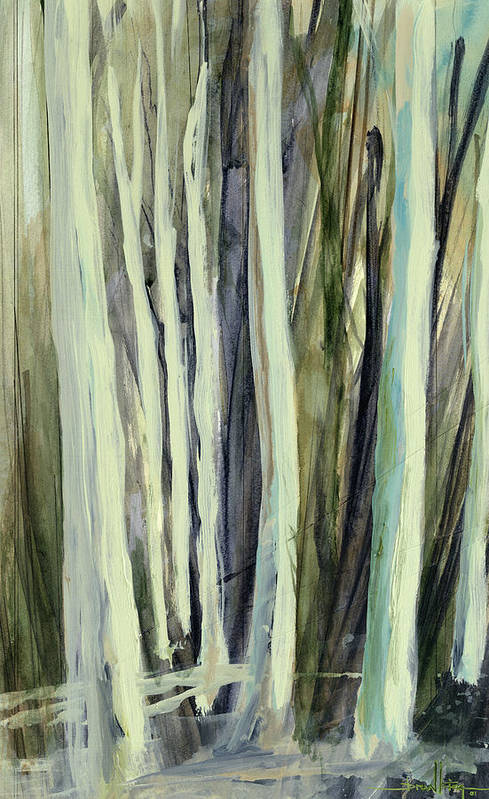 Tree Art Print featuring the painting The Grove by Andrew King