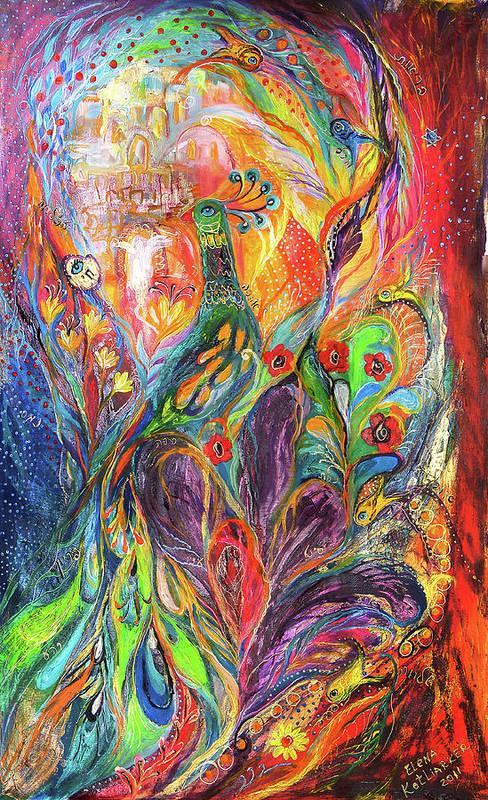 Original Art Print featuring the painting The Shining by Elena Kotliarker