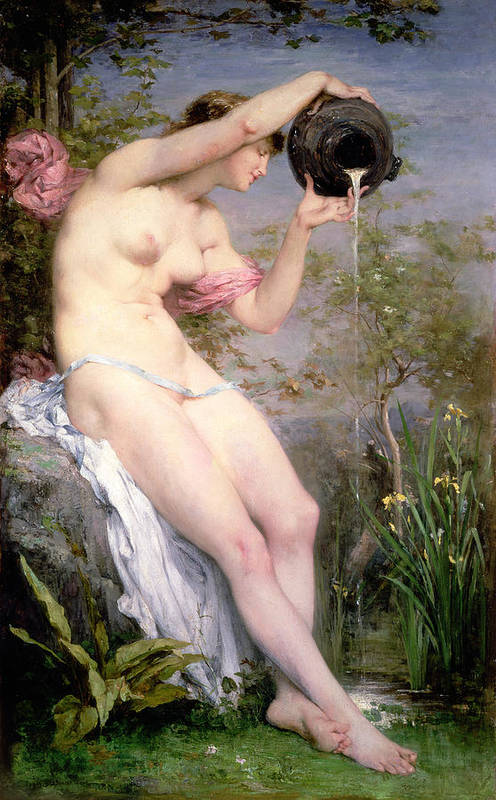 The Art Print featuring the painting The Source by Joseph Victor Ranvier