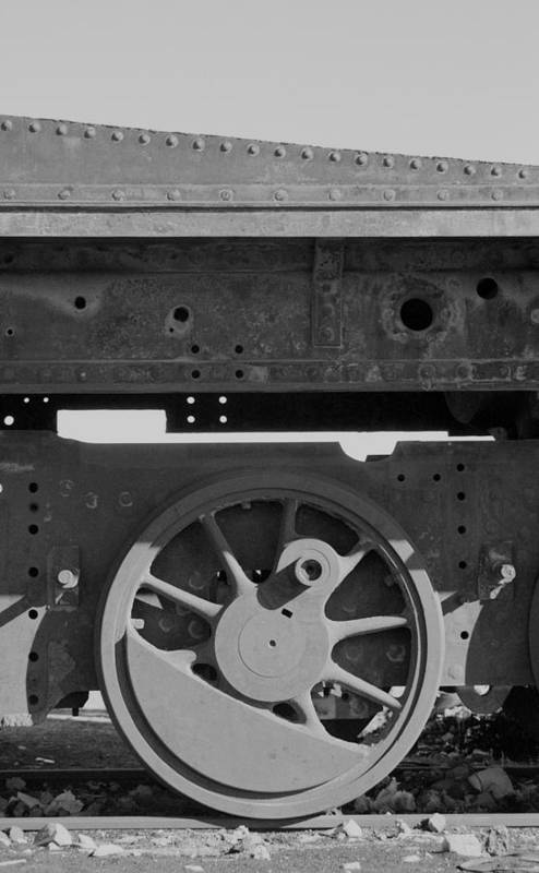 Train Art Print featuring the photograph Train Wheel by Marcus Best