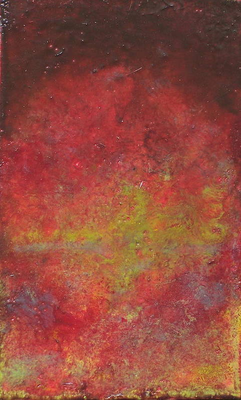 Abstract Art Print featuring the painting Twilight by Karla Phlypo-Price