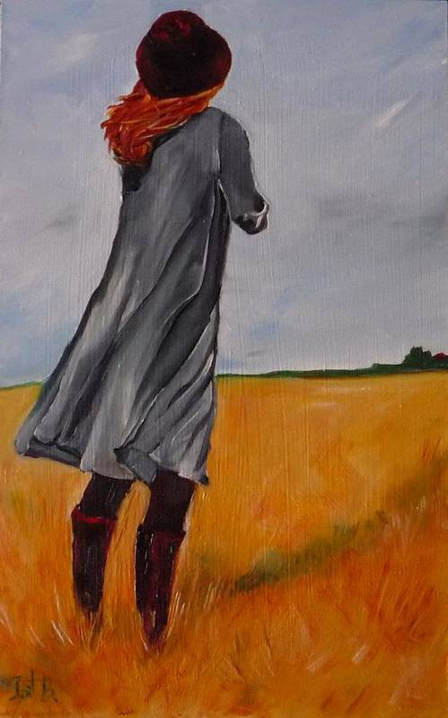 Figurative Art Print featuring the painting Waiting For The Storm by Irit Bourla