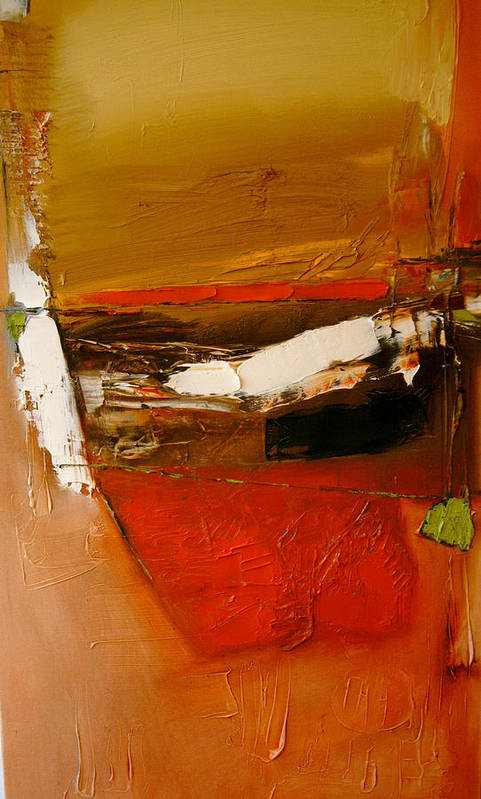 Abstract Art Print featuring the painting Yellow Ochre In A Rage by Stefan Fiedorowicz