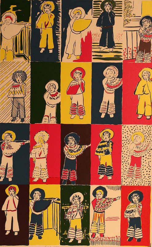 Art Print featuring the painting Twenty Little Mexicans by Biagio Civale