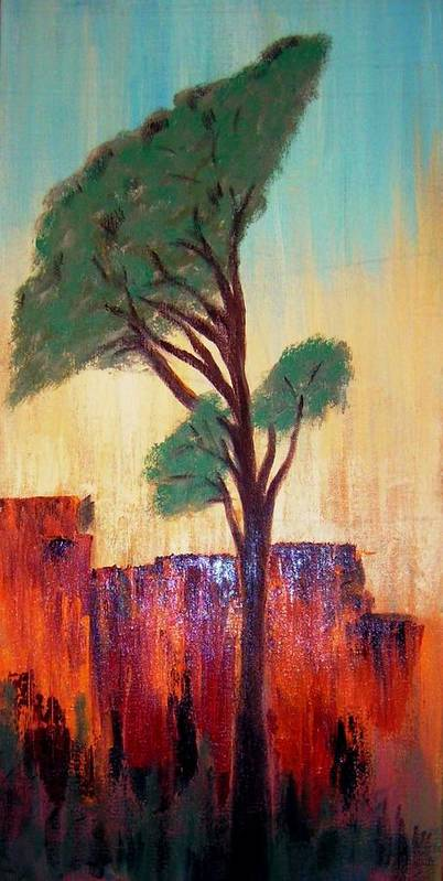 Landscape Art Print featuring the painting T And M by Joseph Ferguson