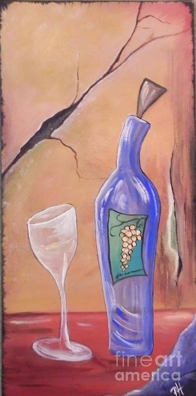 Wine Art Print featuring the painting Reisling by Patti Spires Hamilton