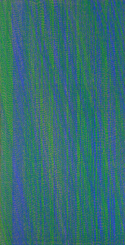 Green Blue Abstract Pattern Art Print featuring the painting GrBl79 by Joan De Bot