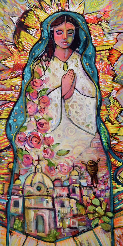 Jen Norton Art Print featuring the painting Guadalupe by Jen Norton