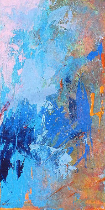 Abstract Art Print featuring the painting Stay the Night by Jacquie Gouveia