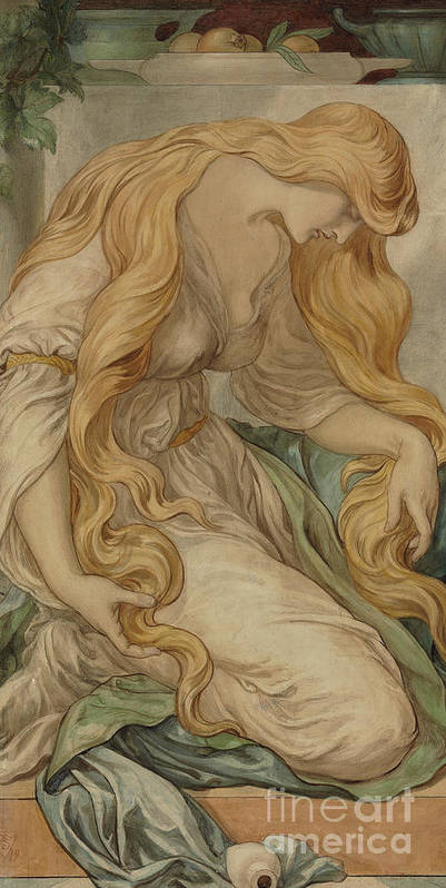 Mary Magdalene Art Print featuring the painting Mary Magdalene, 1879 by Frederic James Shields