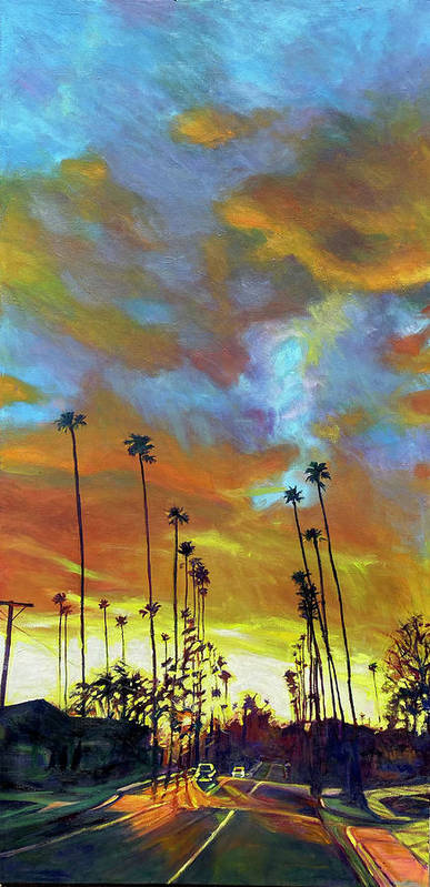 Twilight Art Print featuring the painting The Whole Picture by Bonnie Lambert