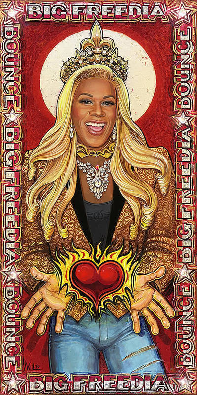 Big Freedia Art Print featuring the painting A Portrait of Big Freedia by Tim Neil