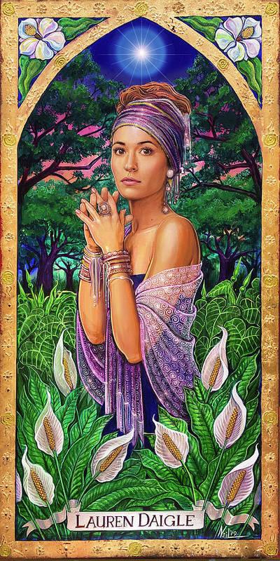 Lauren Daigle Art Print featuring the mixed media A Portrait of Lauren Daigle by Tim Neil