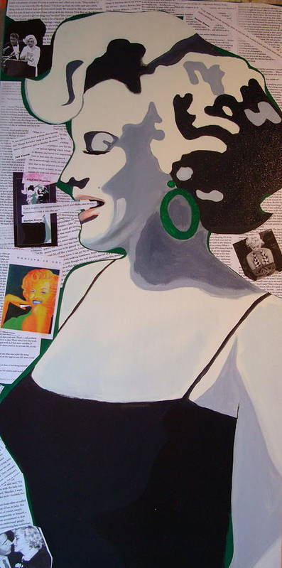 Marilyn Monroe Art Print featuring the drawing Marilyn by Holly Picano