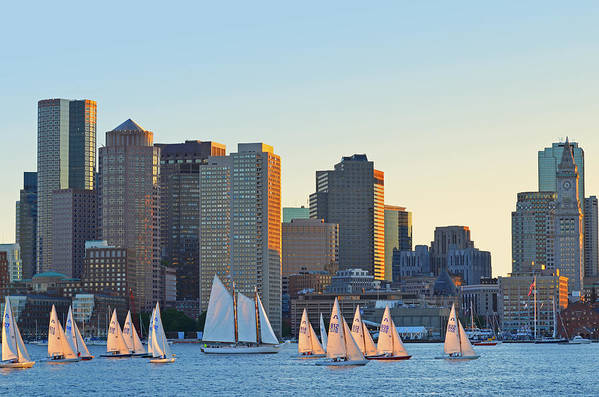 The Boston Skyline from East Boston by Toby McGuire