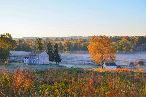 Autumn Scene - Valley Forge Pa by Bill Cannon